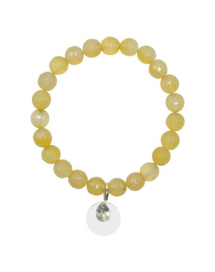 Fire Agate - Yellow Stretch Bracelet