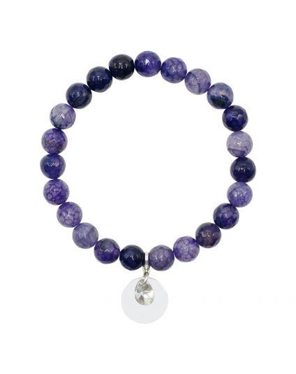 Fire Agate - Purple Stretch Bracelet
