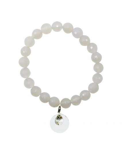 Milky Agate Stretch Bracelet