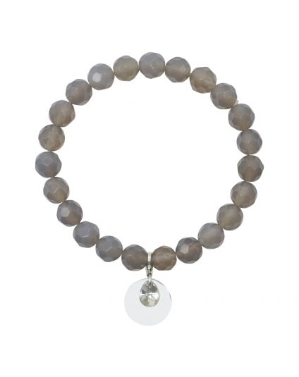 Agate - Grey Stretch Bracelet