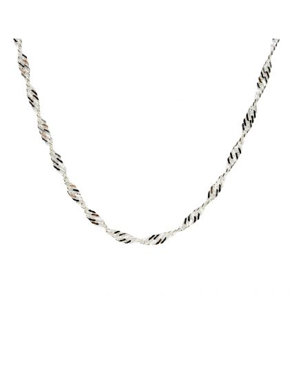 Sterling Silver Waterwave Necklace (Multiple Lengths Available)