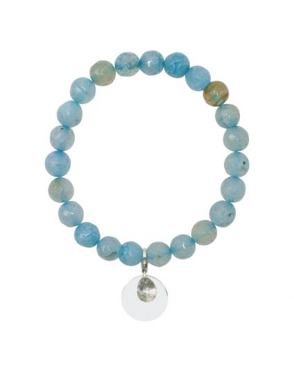 Agate - Ocean Blue Stretch Bracelet