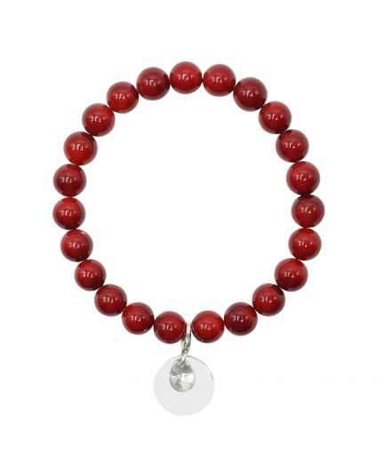 Cranberry Shell Stretch Bracelet