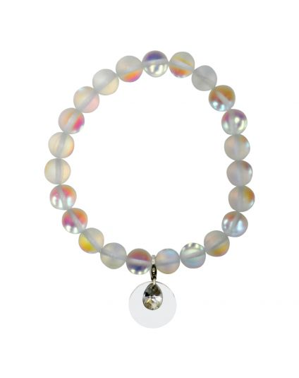 Moonstone Matte Stretch Bracelet