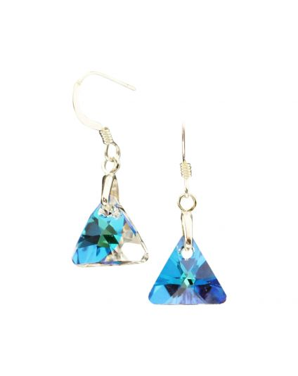 Tiny Crystal Triangle Earrings