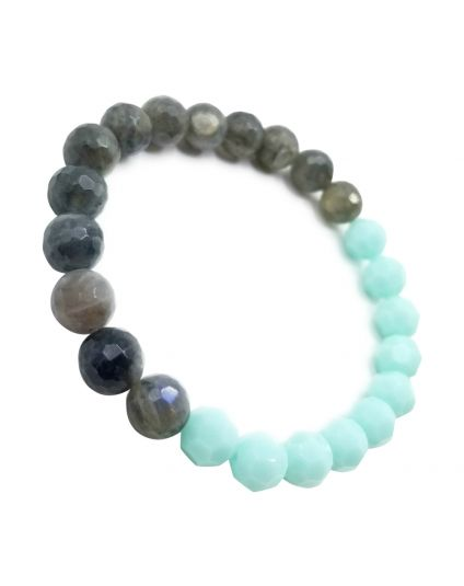 Mint & Labradorite Stretch Bracelet