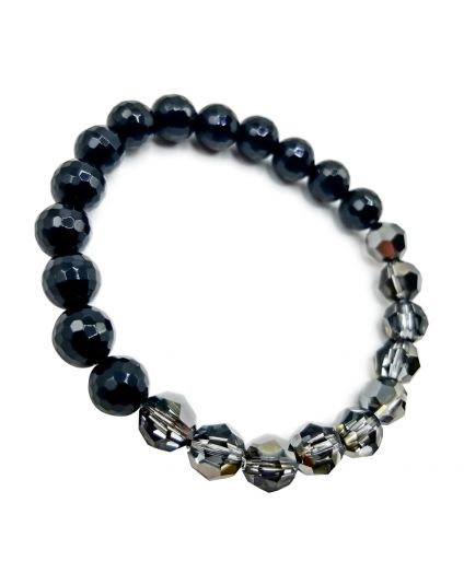 Silvernight & Onyx Stretch Bracelet