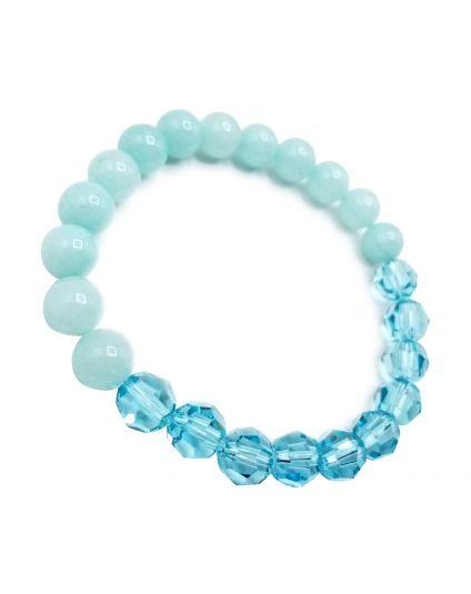 Turquoise & Jade Seafoam Stretch Bracelet