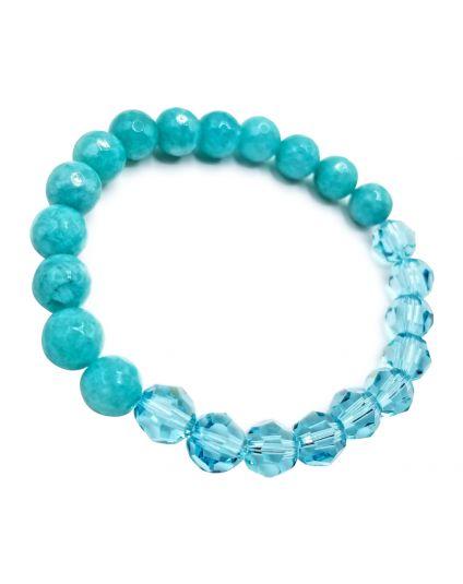 Turquoise & Jade Veramon Stretch Bracelet