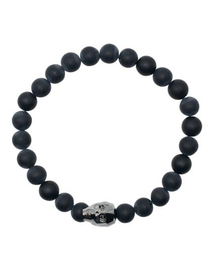 Crystal Skull Onyx Stretch Bracelet