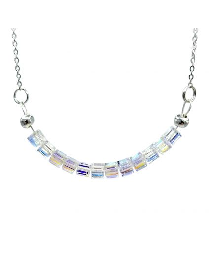 Multiple Cube Crystal Necklace