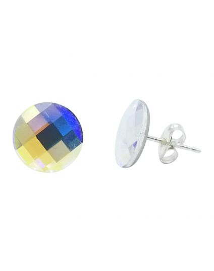 Round 10mm Crystal Chessboard Studs