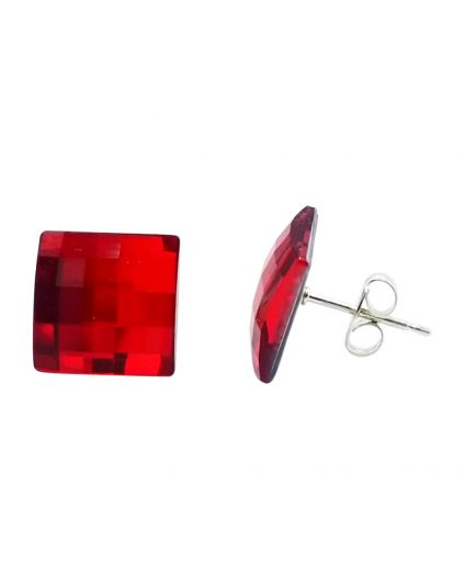 Square 10mm Crystal Chessboard Studs