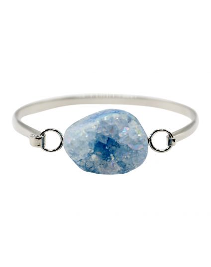 Large Druzy Rock Bangle Bracelet