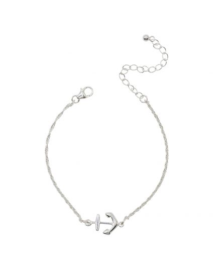 Sterling Silver Tiny Anchor Bracelet