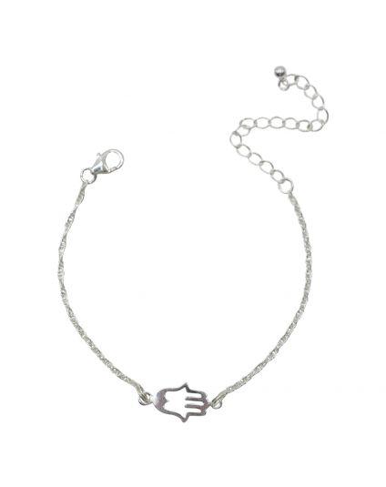 Sterling Silver Tiny Evil Hand Bracelet