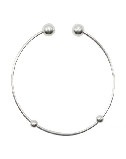 Sterling Silver Add-On Bead Bangle