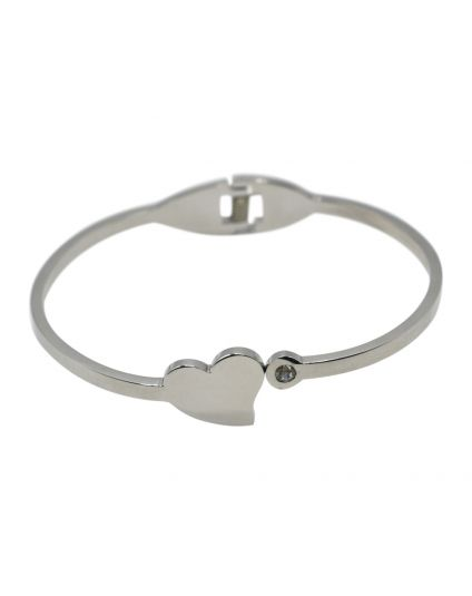 Crystal Heart Personalized Bangle