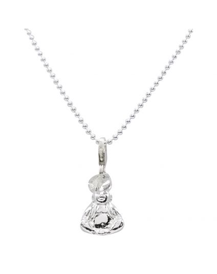 Sterling Silver 1.5mm Ball Link Chain Necklace Only (150 Add-On Charm Options)