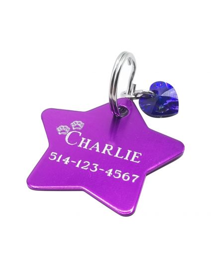 Personalized Star Pet Tag