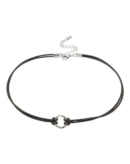Genuine Leather Choker Only (150 Add-On Charm Options)