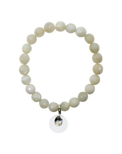 Genuine Moonstone Stretch Bracelet