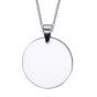 Stainless Steel 30mm Round Tab Necklace